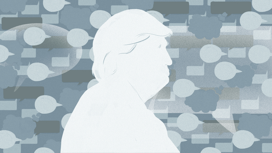 President Trump is giving an update on U.S. involvement in Afghanistan on Monday night. (Chelsea Beck/NPR)