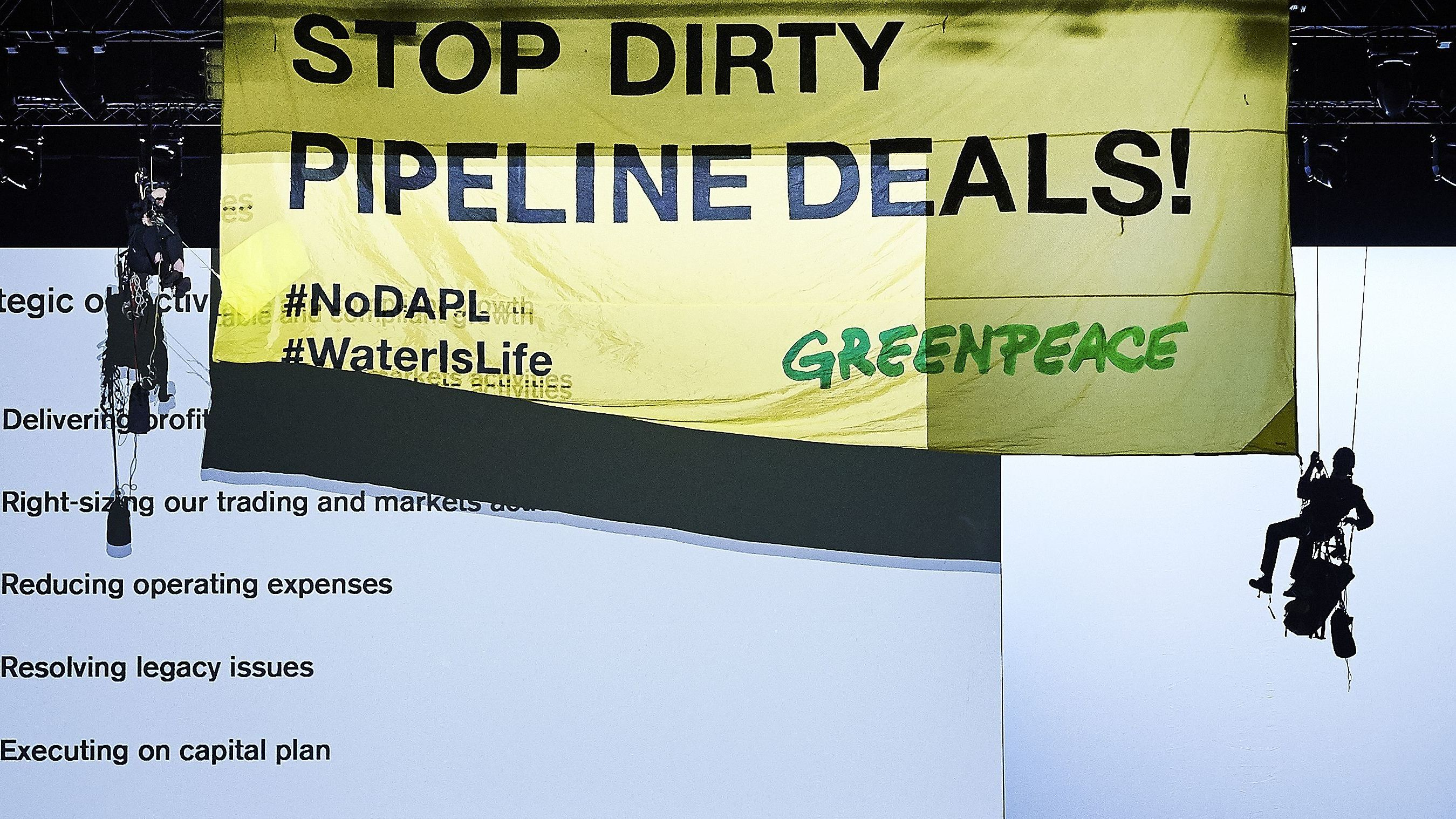 Dakota Access Pipeline Owner Sues Greenpeace For 'Criminal Activity'