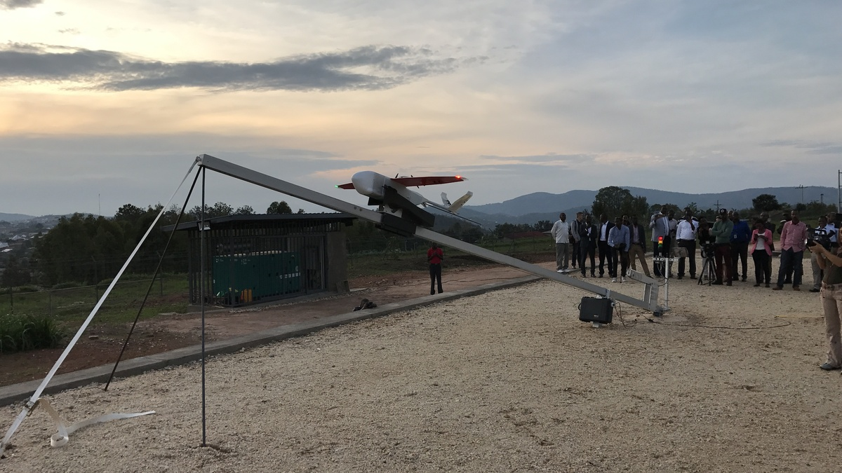 drone system from zipline to launch in tanzania delivering