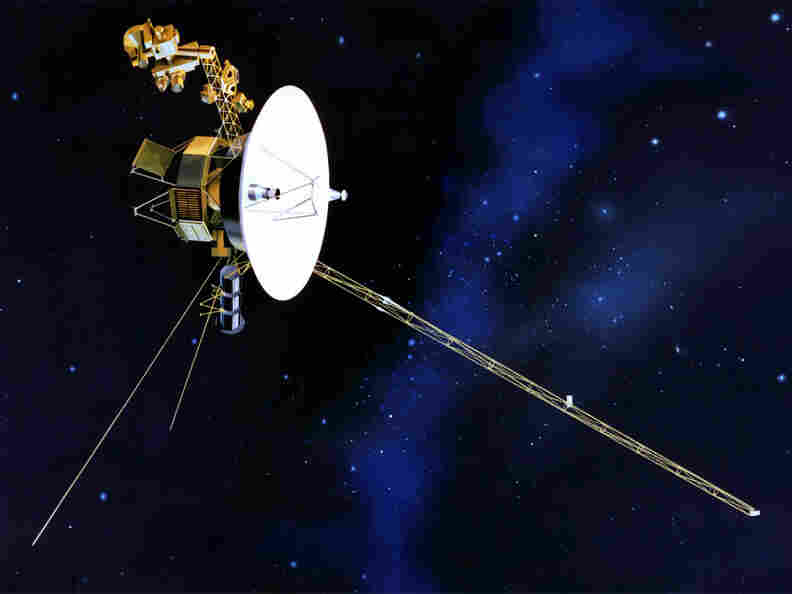 Artist's rendition of Voyager 1 in space.