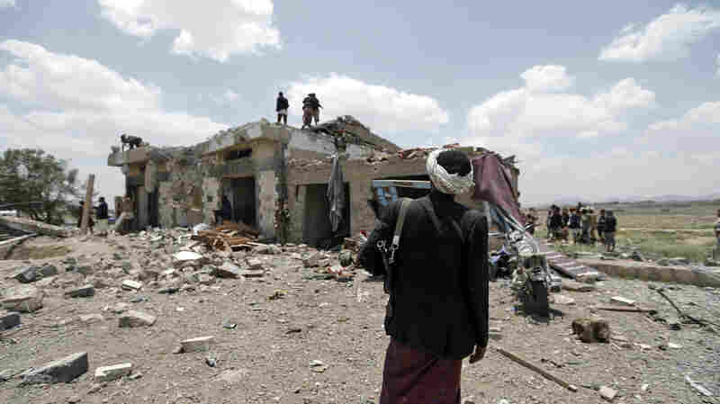 Dozens Of People Killed As Airstrike Hits Hotel Near Yemen's Capital