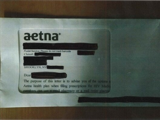 Aetna Mailer Accidentally sends names of HIV patients