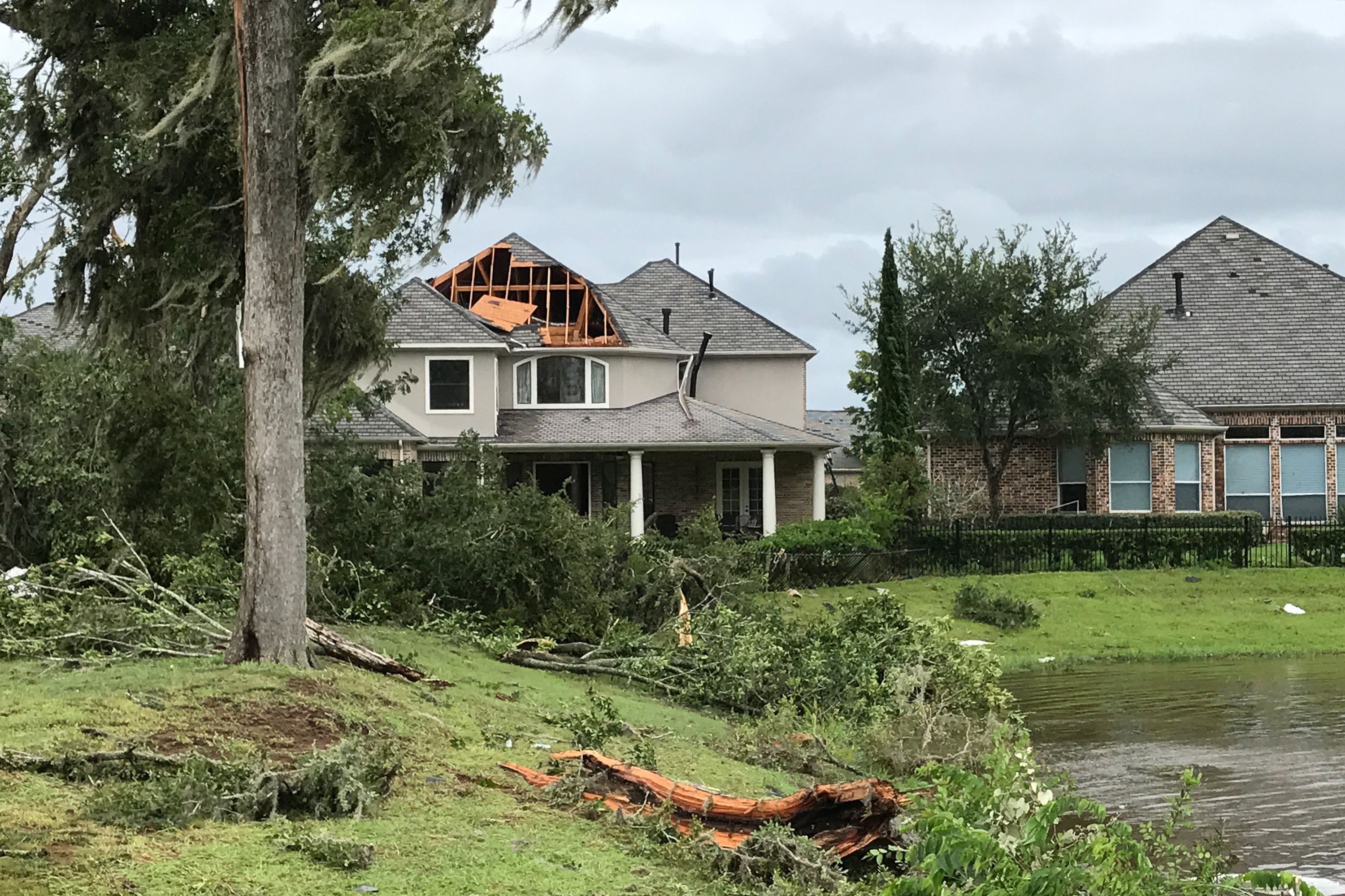 As Houston Area Suburbs Wait For Harvey To Blow Over