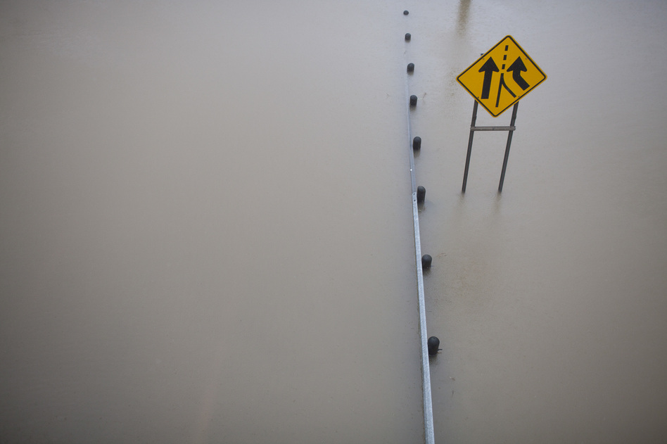 Hurricane Harvey is the largest hurricane to hit Texas in decades and high rainfall continues to cause flooding in Houston. (Katie Hayes Luke for NPR)