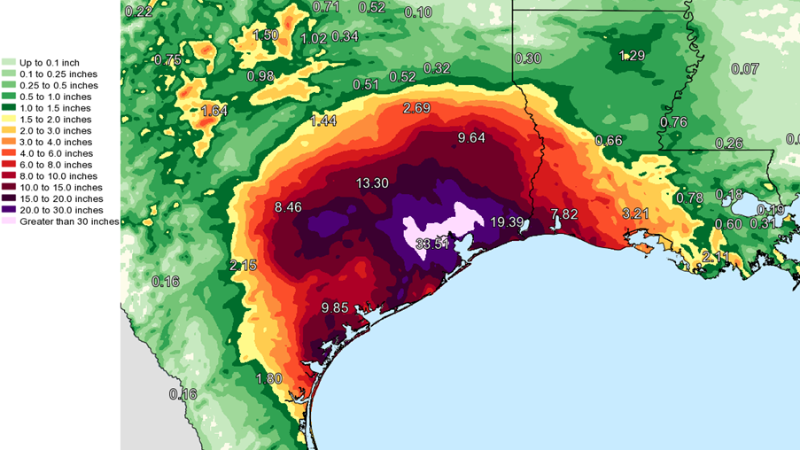 Colors On Weather Map.National Weather Service Adds New Colors So It Can Map Harvey S