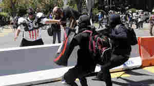 Scattered Violence Erupts At Large, Left-Wing Berkeley Rally
