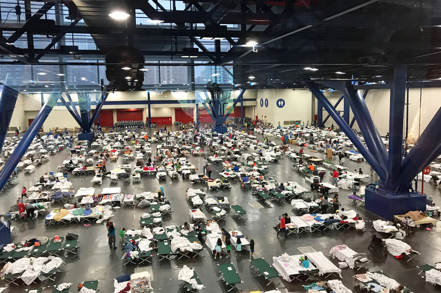 Sleeping In Cars, Walking Through Water, Texans Braved Harvey To Find Shelter