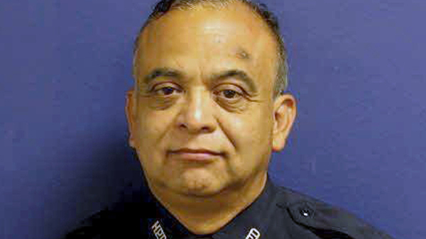 Houston Police Sgt. Steve Perez was killed while trying to get through flood waters to report for work during Hurricane Harvey. Perez had been with the force for 34 years.