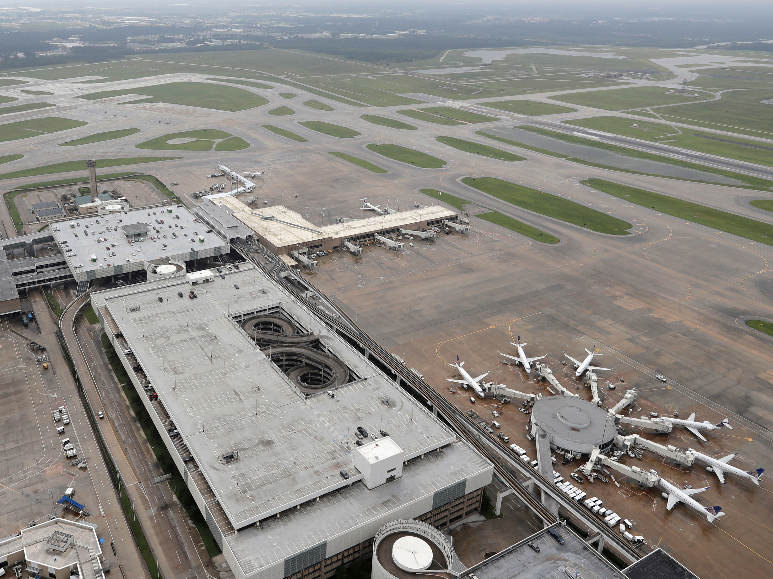 Flight operations cease at Houston airports until further notice, officials say