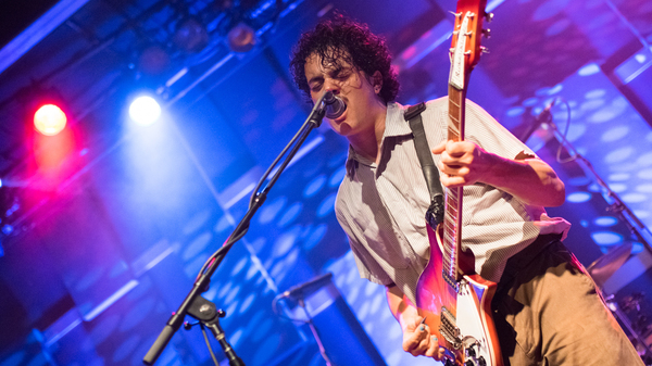 Lead singer/guitarist Rob Grote of The Districts, performing at World Cafe Live in Philadelphia.