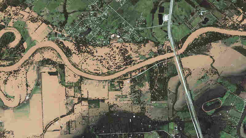Before And After: Dramatic Satellite Photos Show Texas Towns Underwater