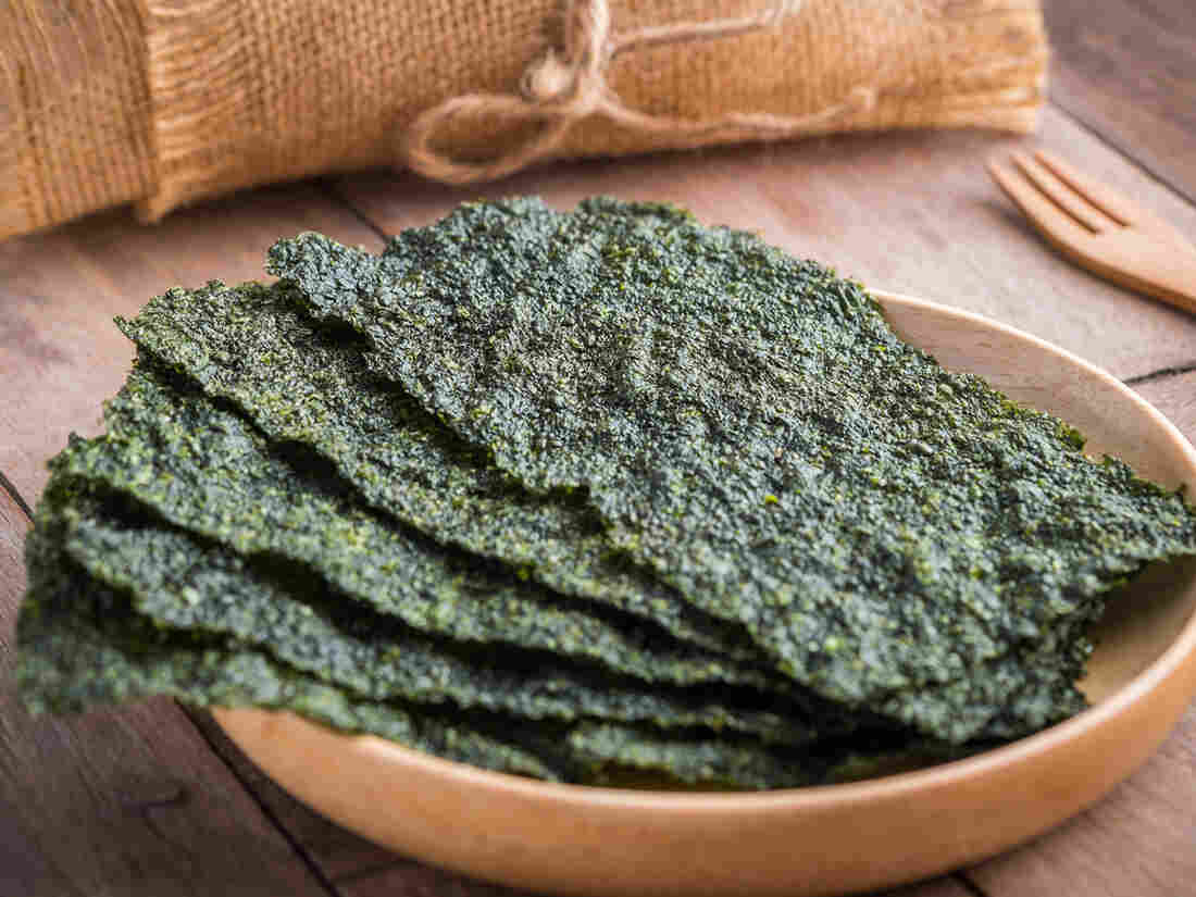 Barbara J. King takes a look at what food writers think of the future of food; some say seaweed food products will be on the menu.