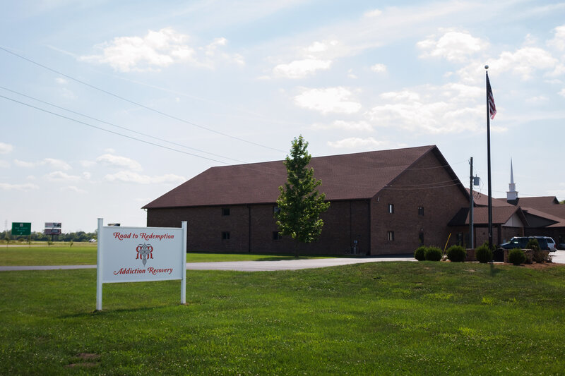 Road to Redemption holds a weekly free dinner and support meeting at a church in Muncie, Ind. (Seth Herald for NPR)