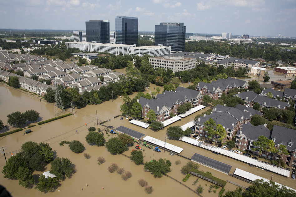 A view of flooding on the west side of Houston on Sept. 1. (Scott Dalton for NPR)