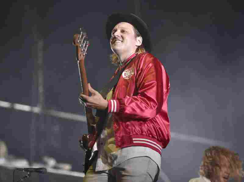 Win Butler of Arcade Fire performs at Lollapalooza on Aug. 6 in Chicago.