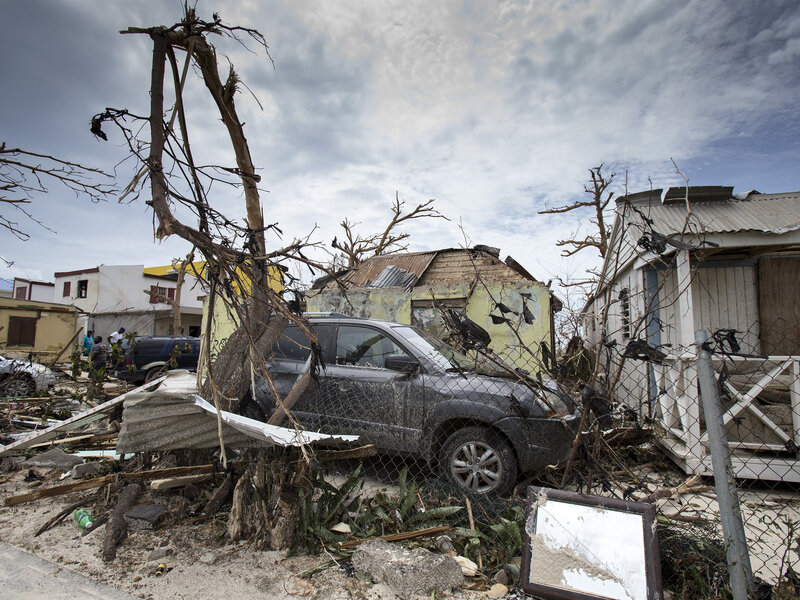 A photo provided by the Dutch Defense Ministry shows storm damage on St. Maarten in the wake of Hurricane Irma on Thursday. (Gerben Van Es/AP)