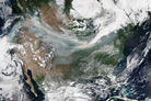 A smoky pall hangs over much of the western United States in early September.
