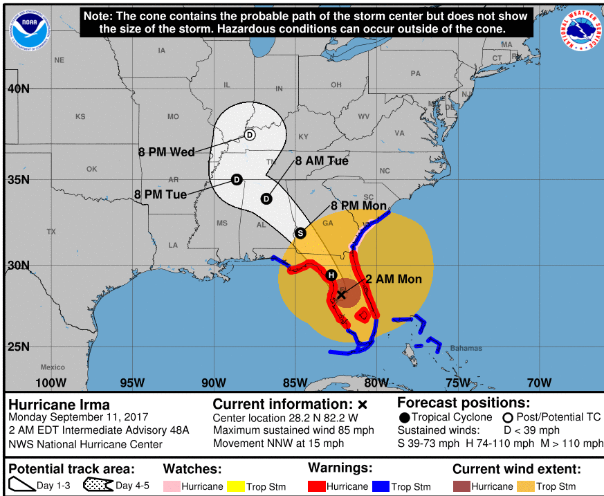 NHC 2am map