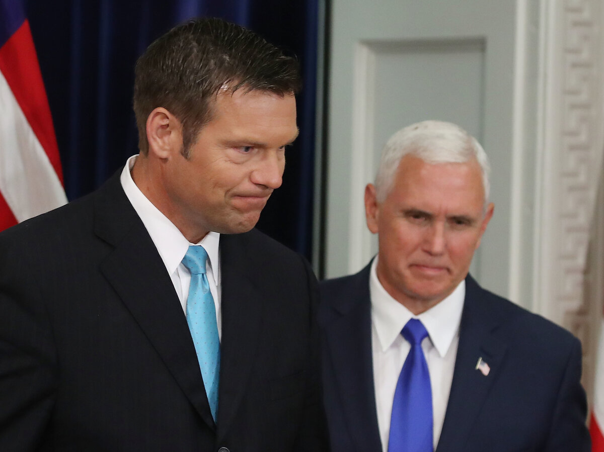 Kobach and Pence : Voter Fraud Nonsense