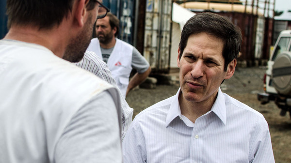 Dr. Tom Frieden met with staff from Doctors Without Borders during a visit to the group