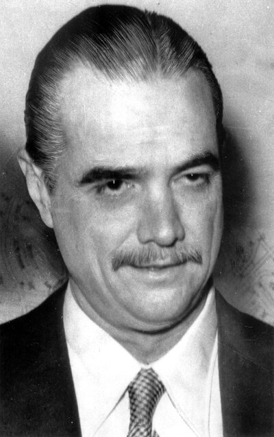Howard Hughes, an eccentric, reclusive billionaire, agreed to be the cover story for the CIA plot to retrieve the Soviet sub. He announced that he would build a huge ship to mine valuable manganese nodules from the floor of the Pacific Ocean. In reality, the CIA was working with Hughes to build a one-of-a-kind ship to raise the sunken sub. (AP)