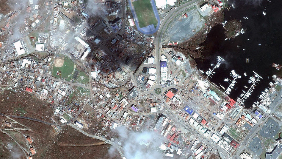 Satellite imagery of Road Town, Tortola