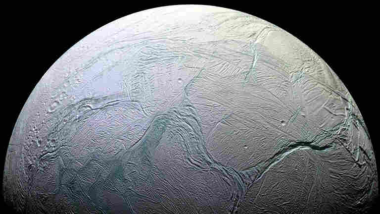 The tortured surface of Saturn's moon Enceladus tells the story of the ancient and present struggles of one tiny world.