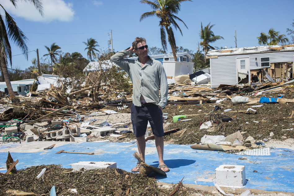 Bill Quinn stands where his home once sat in Sea Breeze Mobile Home Community on Tuesday. The home was passed down three generations and had an ocean view.