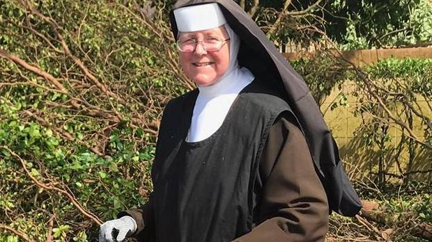 Nun With A Chainsaw Becomes Symbol Of Post-Irma Cleanup: 'She Rocks'