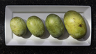 Heard of the pawpaw? It's a custard-like fruit native to North America — and it's growing in popularity. Here, a few pawpaw varieties from the Deep Run Pawpaw Orchard in Maryland.