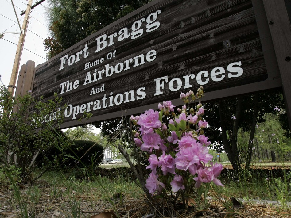 One soldier was killed and seven wounded Thursday during a training incident at Fort Bragg, N.C. It came just one day after a separate incident at Camp Pendleton, Calif., left 14 Marines and one sailor wounded. (Gerry Broome/AP)