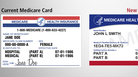 The new Medicare cards (right) will not use Social Security numbers for identification. Instead, they will have random sequences of letters and numbers.