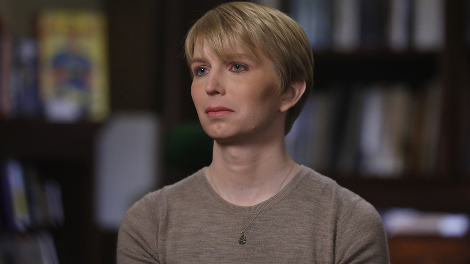 Chelsea Manning was interviewed on the ABC News program <em>Nightline</em> shortly after her release from prison. Manning, a 29-year-old transgender woman, formerly known as Bradley Manning, was convicted of leaking classified information. (Heidi Gutman/ABC via Getty Images)