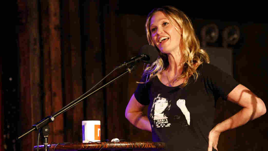 Julia Stiles on Ask Me Another at The Bell House in Brooklyn, New York.