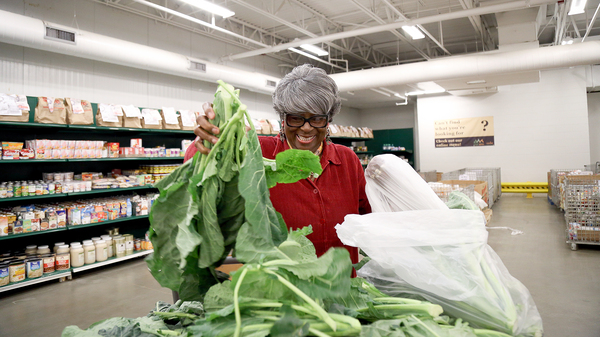 Dorothy Boddie runs the outreach ministry at Allen Chapel AME, one of the Capital Area Food Bank