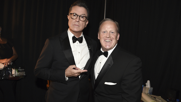 The Real 'Spicey' Crashes The Emmys, As Stars Mock Trump