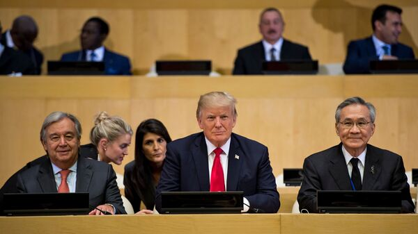 Trump Addresses U.N. General Assembly For The First Time