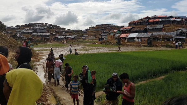 Dozens of camps have sprouted in Bangladesh since the Rohingya have begun arriving.Michael Sullivan / NPR