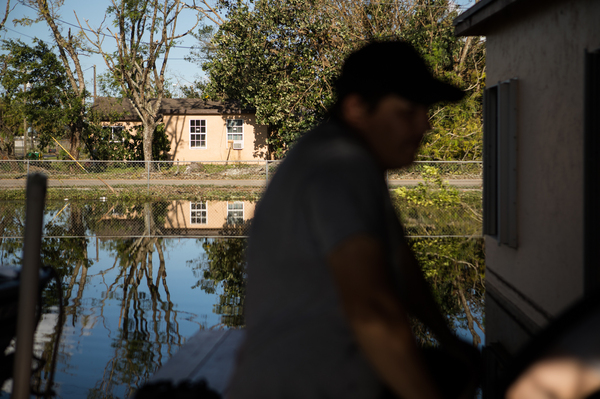 Flooding in Immokalee, Fla., after Hurricane Irma hit was still present days afterward. Public health officials say that even after waters recede, issues such as mold and mosquitos can remain.