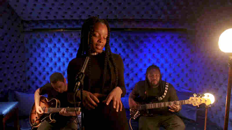 Watch Jamila Woods Perform 'HEAVN,' Shrouded In Blue Velvet