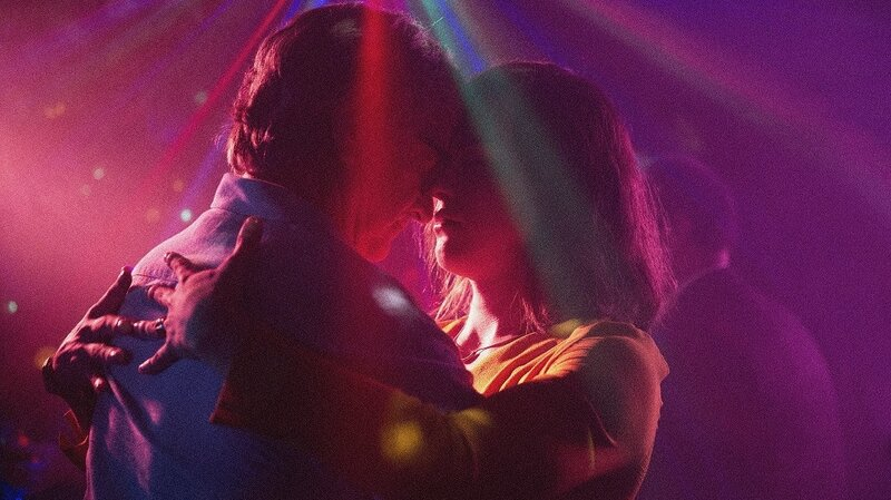 Transgender singer Marina (Daniela Vega, right) navigates that fallout of her boyfriend's sudden death in A Fantastic Woman. Also pictured: Francisco Reyes. (Sony Pictures Classics)