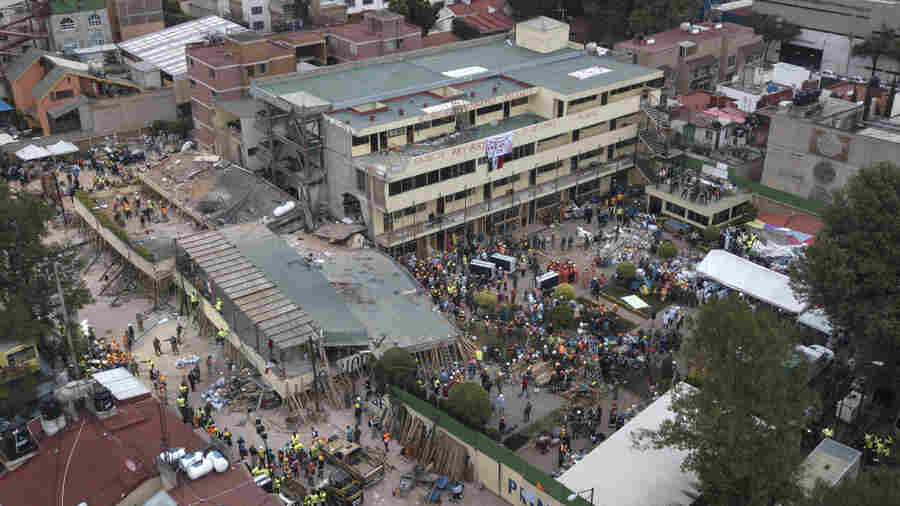 Hope, Despair Descend On Quake-Shattered School In Mexico City