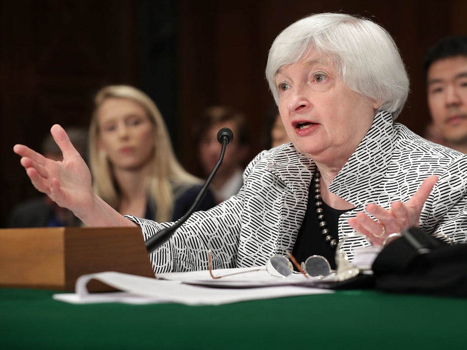 Federal Reserve Board Chair Janet Yellen says the process of unwinding the central bank's massive bond holdings will be gradual. (Chip Somodevilla/Getty Images)