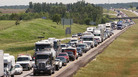 Marla Leaf received a speeding ticket after driving on Interstate 380 in Cedar Rapids, Iowa.