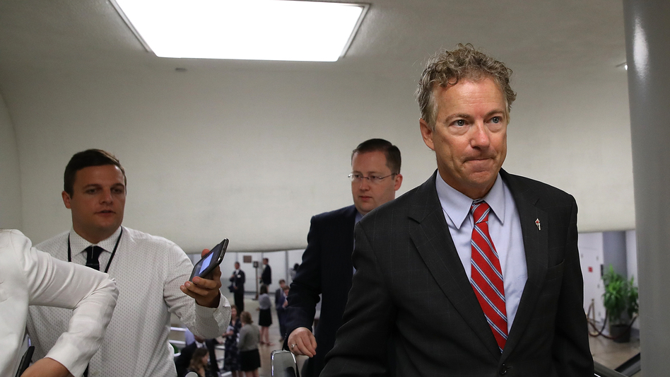 "Sen. Rand Paul, R-Ky., has called the legislation that could be Republicans' last hope to repeal the Affordable Care Act ""a really crappy bill."" (Justin Sullivan/Getty Images)"