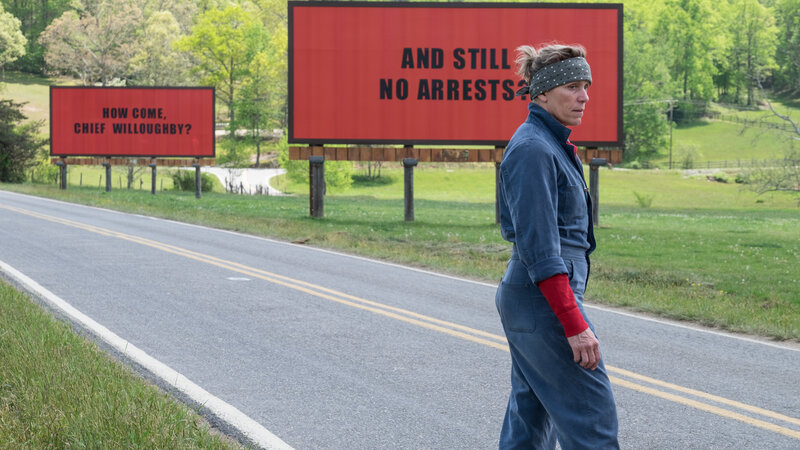Frances McDormand plays Mildred Hayes, a mother determined to find her daughter's murderer, in Three Billboards Outside Ebbing, Missouri. (Merrick Morton/Twentieth Century Fox Film Corporation)
