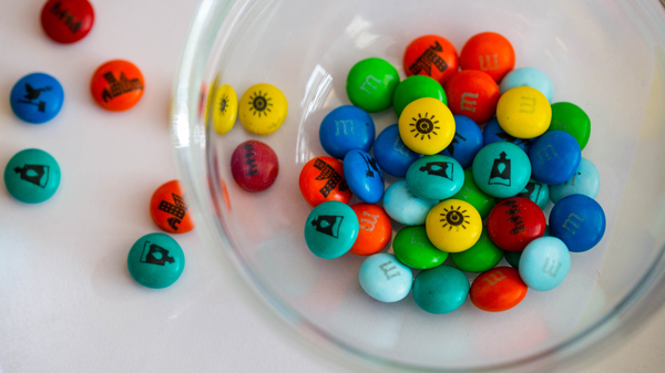 U.N. Sustainable Development Goals printed on M&Ms will melt in your mouth, not on your hands.