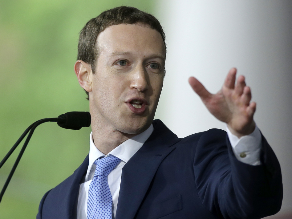 Facebook CEO Mark Zuckerberg, seen here in May, has announced new rules intended to remove ads that interfere with the integrity of elections. (Steven Senne/AP)