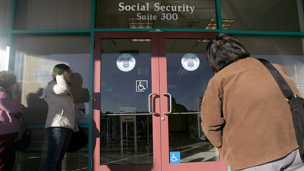 Some people seeking Medicare penalty waivers have experienced delays at Social Security Administration offices like this one in San Francisco, Calif.