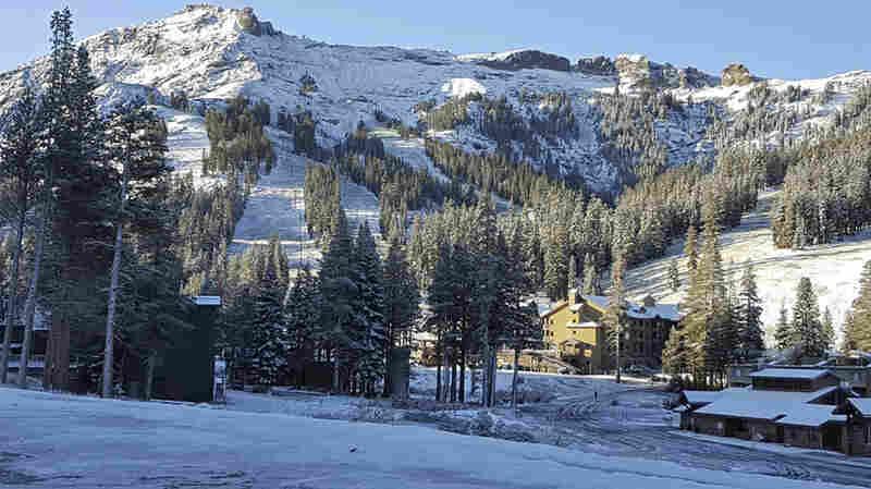 Snow Falls In The Sierra Nevada On Summer's Last Full Day